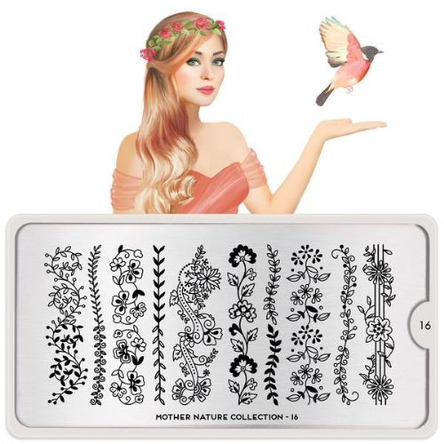 MoYou LONDON STAMPING PLATE - MOTHER NATURE 16